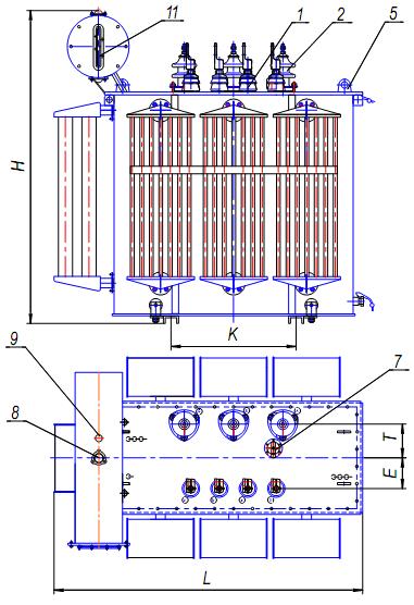 Схема трансформатора ТМ